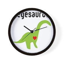 vegesaurus Wall Clock
