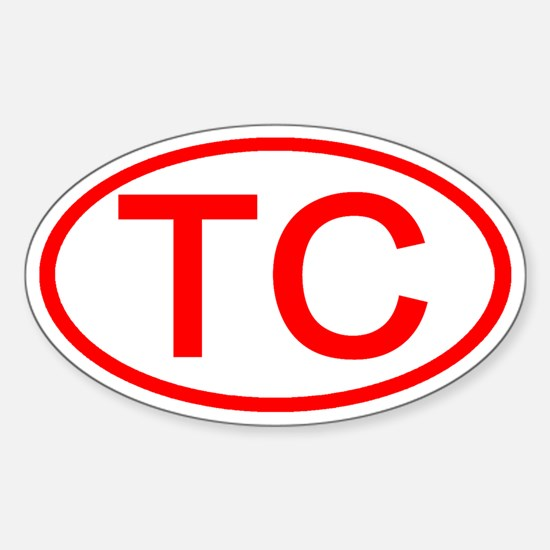 TC Oval (Red) Oval Decal