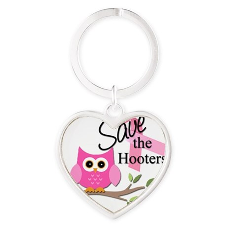 R637 Save The Hooters Heart Keychain
