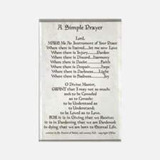 Pope Francis St. Francis SIMPLE P Rectangle Magnet