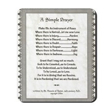 Pope Francis St. Francis SIMPLE PRAYER-P Mousepad