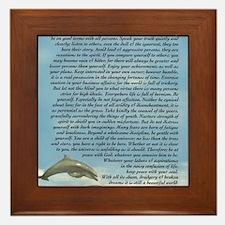 DESIDERATA Poem Dolphins Framed Tile