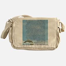 DESIDERATA Poem Dolphins Messenger Bag