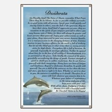 DESIDERATA Poem Dolphins Banner