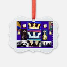 Crown jewels , with azure bleu ba Ornament