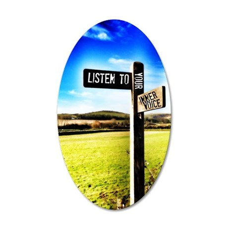 inner voice 35x21 Oval Wall Decal