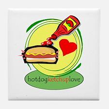 hotdog.ketchup Tile Coaster