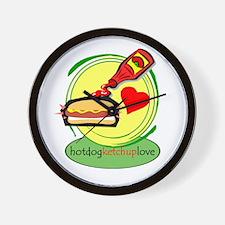 hotdog.ketchup Wall Clock