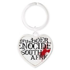 South Africa Genocide Heart Keychain