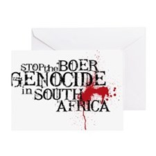 South Africa Genocide Greeting Card