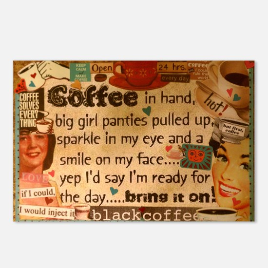 Coffee Love Postcards (Package of 8)