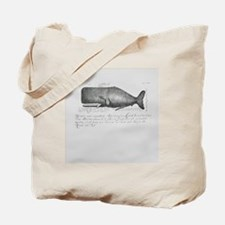 Vintage Whale Shower Curtain Tote Bag