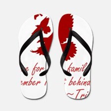 Tris Tattoo - three ravens Flip Flops