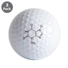 Chocolate Molecule Golf Ball
