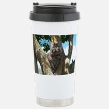 Fluffy Grey Kitten Travel Mug