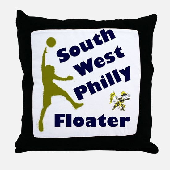 Southwest Philly Floater Throw Pillow