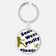 Southwest Philly Floater Round Keychain