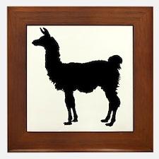 Llama Silhouette Framed Tile