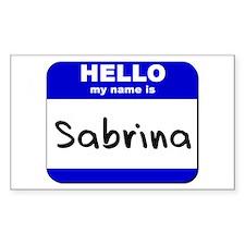 hello my name is sabrina Rectangle Decal