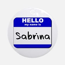 hello my name is sabrina  Ornament (Round)