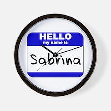 hello my name is sabrina  Wall Clock