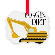 Digging Dirt Picture Ornament