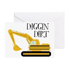 Digging Dirt Greeting Card