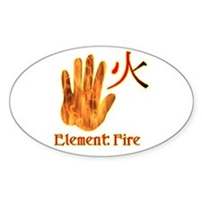 Fire Element Oval Decal