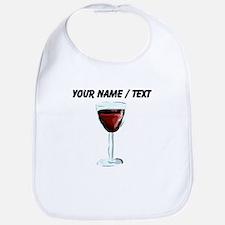 Custom Glass Of Red Wine Bib