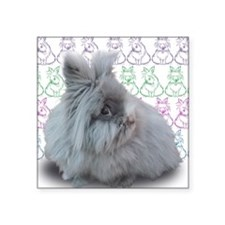 "Cleo with bunnies Square Sticker 3"" x 3"""