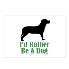 Rather Be A Dog Postcards (Package of 8)