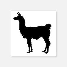 """Llama Silhouette Square Sticker 3"""" x 3"""""""