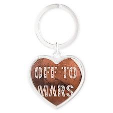 Off To Mars Heart Keychain
