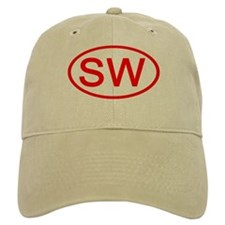 SW Oval (Red) Baseball Cap