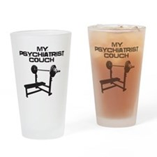 My psychiatrist couch Drinking Glass