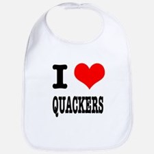 I Heart (Love) Quackers Bib