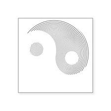"""Yin Yang Square Sticker 3"""" x 3"""""""