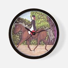 Dressage Horse Riding Black Sides Wall Clock