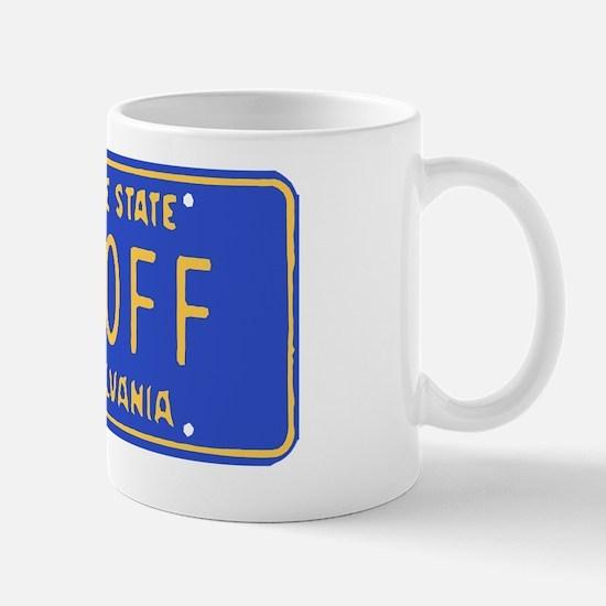 Jagoff License Plate Mug