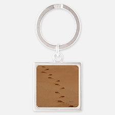 Sndy Feet Square Keychain