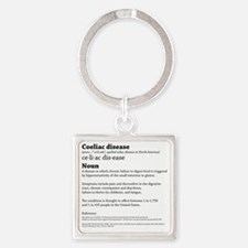 COELIAC  CELIAC DISEASE DEFINITION Square Keychain
