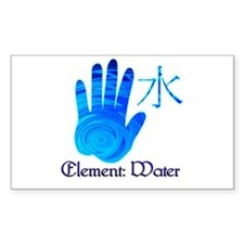 Water Element Rectangle Decal