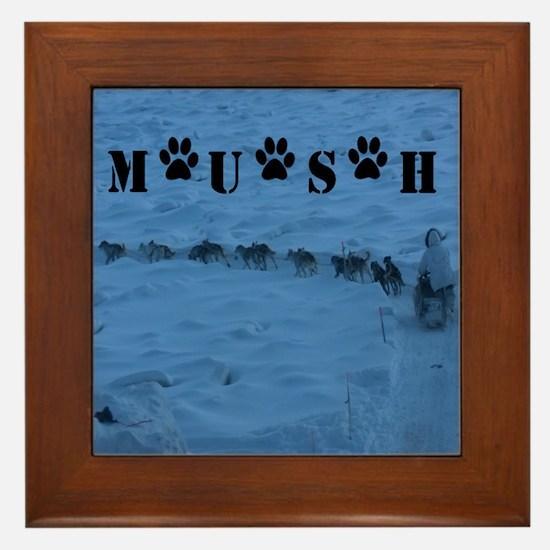 MUSH logo Framed Tile
