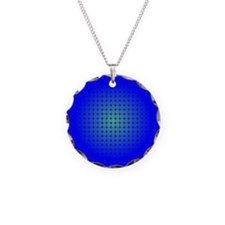 Blue Hoop Dots Full Fade Necklace