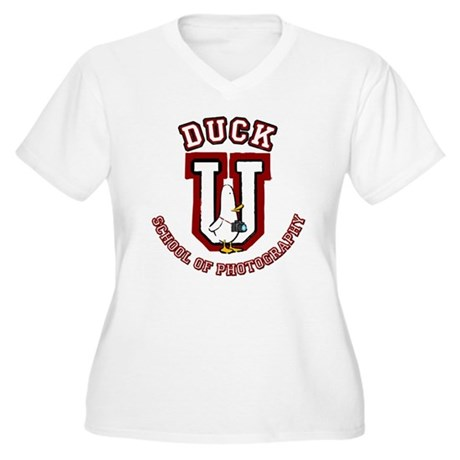 What the Duck University Women's Plus Size V-Neck