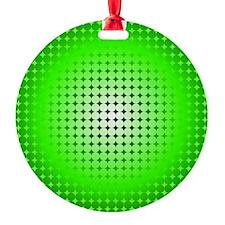 Green Hoop Dots Full Fade Ornament
