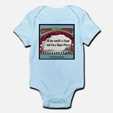 All the World in blue square Infant Bodysuit