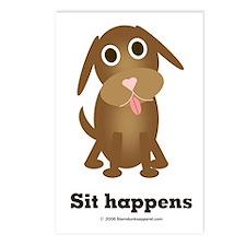 Sit happens Postcards (Package of 8)