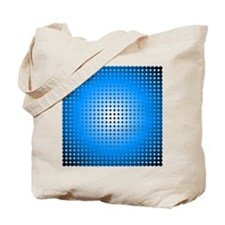Blue Hoop Dots Full Fade Tote Bag
