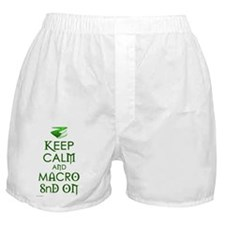 Keep on Rogue White Background Boxer Shorts